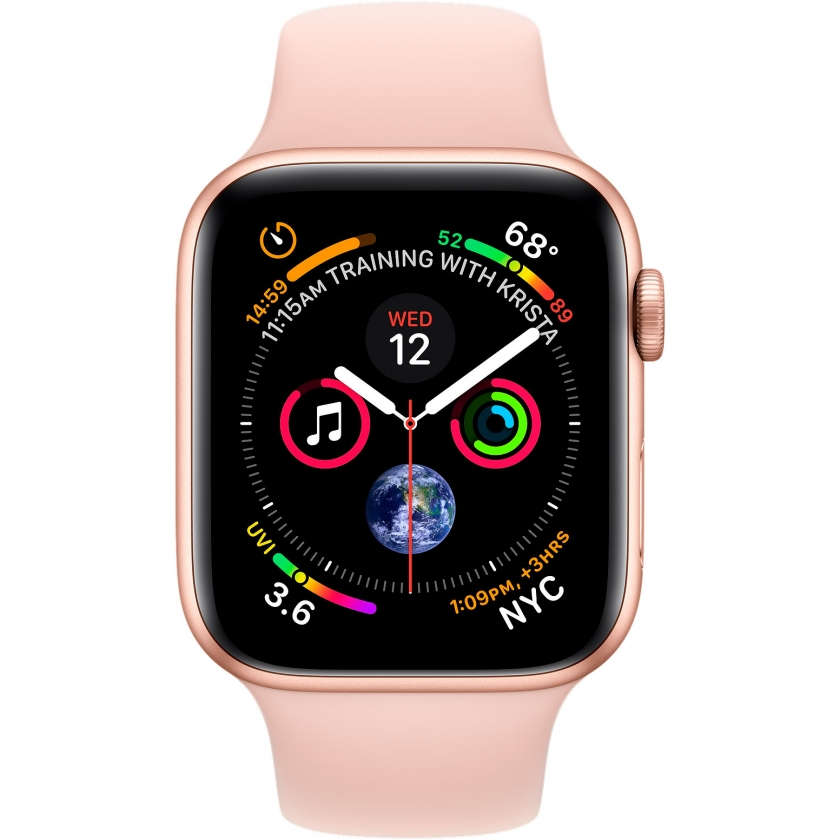 Apple Watch Series 4 GPS 44mm Gold Aluminum Case with Pink Sand Sport Band