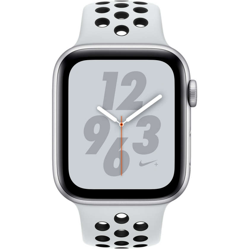 Apple Watch Nike+ Series 4 GPS + Cellular 44mm Silver Aluminum Case with Pure Platinum/Black Nike Sport Band