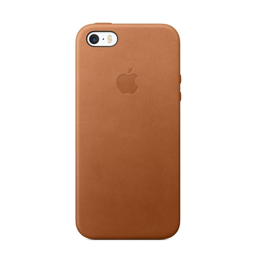 iPhone SE Leather Case - Saddle Brown