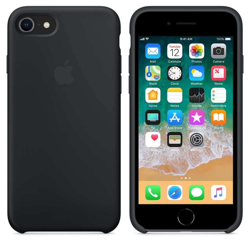 iPhone 8 / 7 Silicone Case - Black
