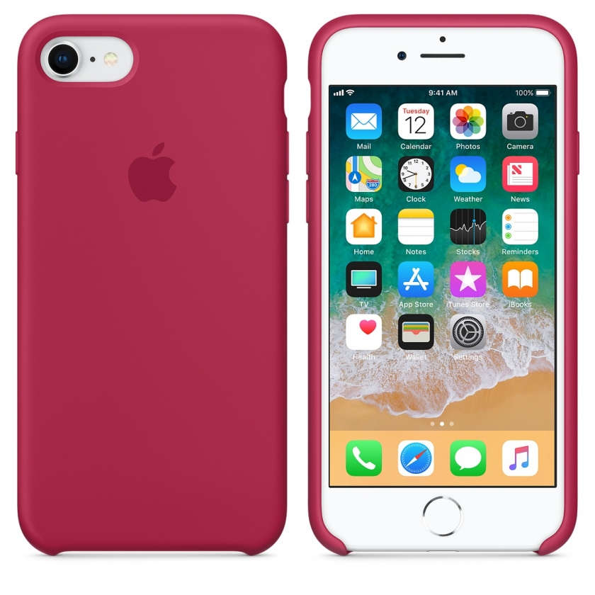 iPhone 8 / 7 Silicone Case - Rose Red