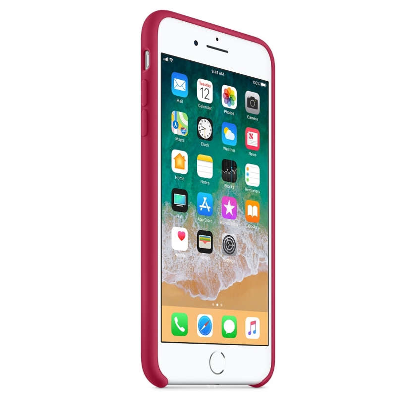 iPhone 8 Plus / 7 Plus Silicone Case - Rose Red
