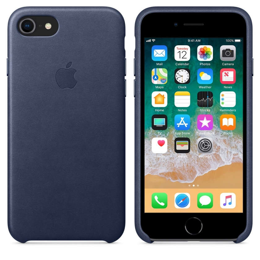 iPhone 8 / 7 Leather Case - Midnight Blue