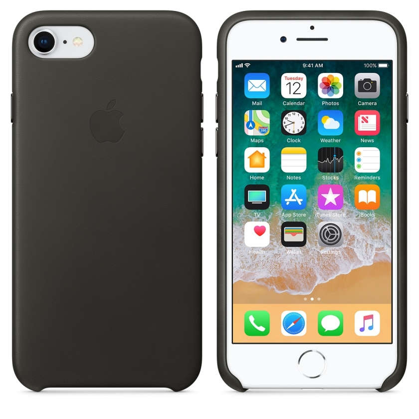 iPhone 8 / 7 Leather Case - Charcoal Gray
