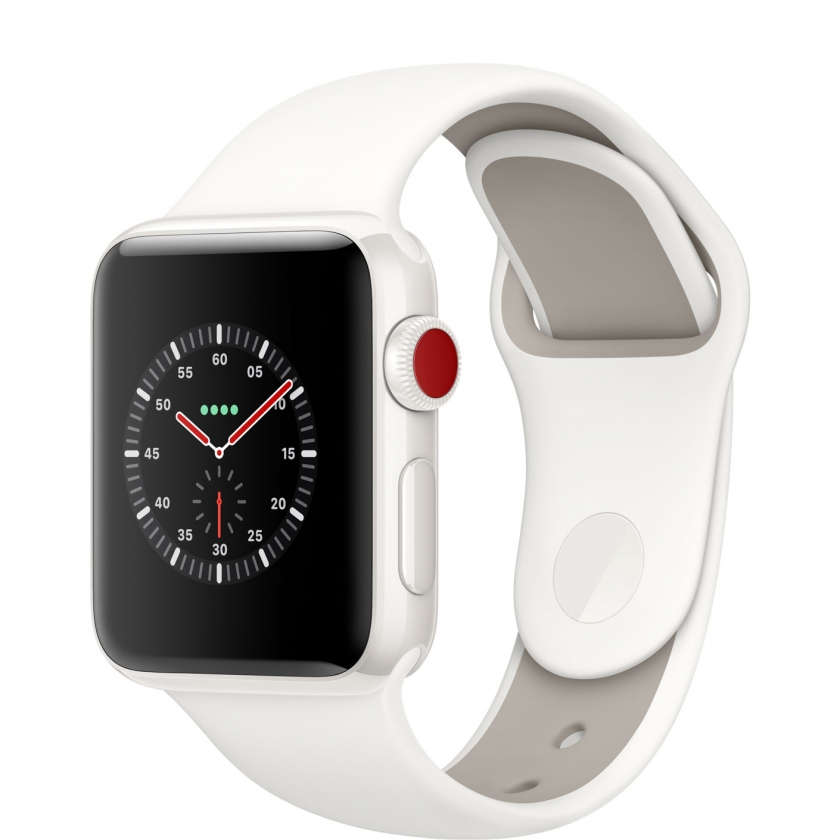 Apple Watch Edition Series 3 GPS + Cellular 38mm White Ceramic Case with Soft White/Pebble Sport Band