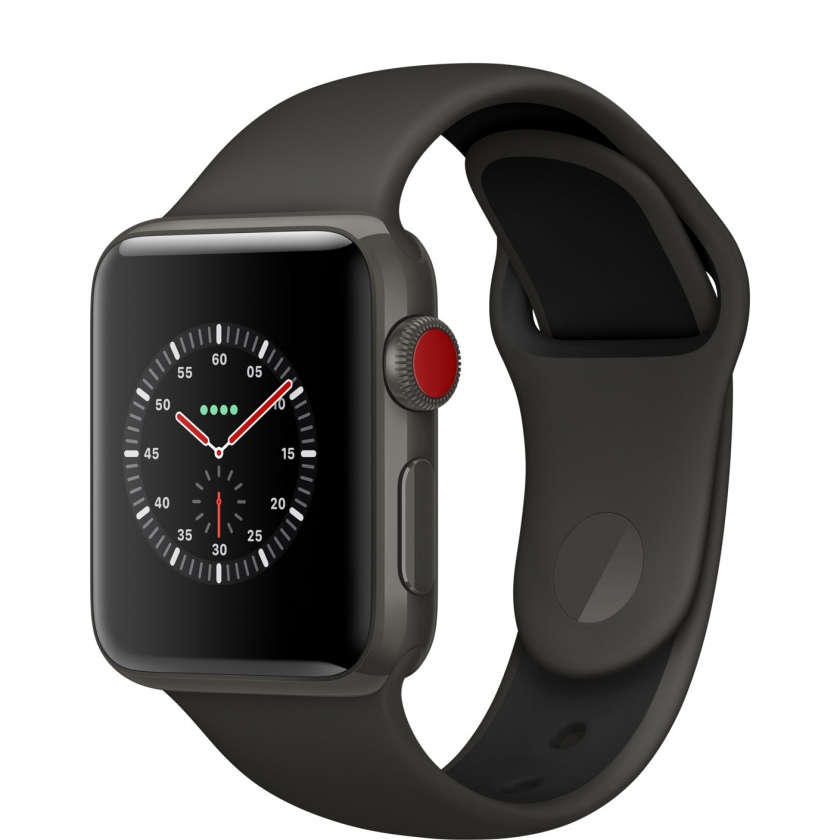 Apple Watch Edition Series 3 GPS + Cellular 38mm Gray Ceramic Case with Gray/Black Sport Band