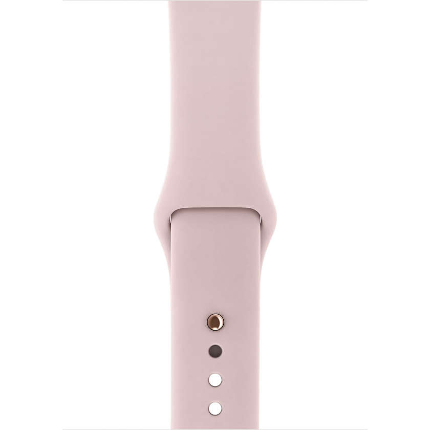 Apple Watch Series 3 GPS + Cellular 42mm Gold Aluminum Case with Pink Sand Sport Band