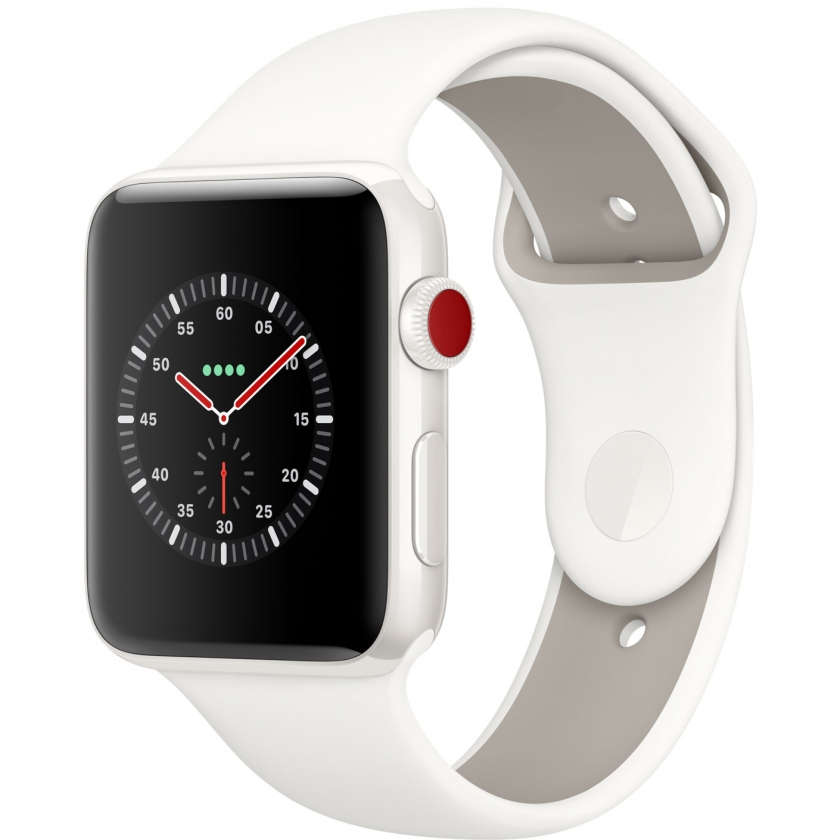 Apple Watch Edition Series 3 GPS + Cellular 42mm White Ceramic Case with Soft White/Pebble Sport Band