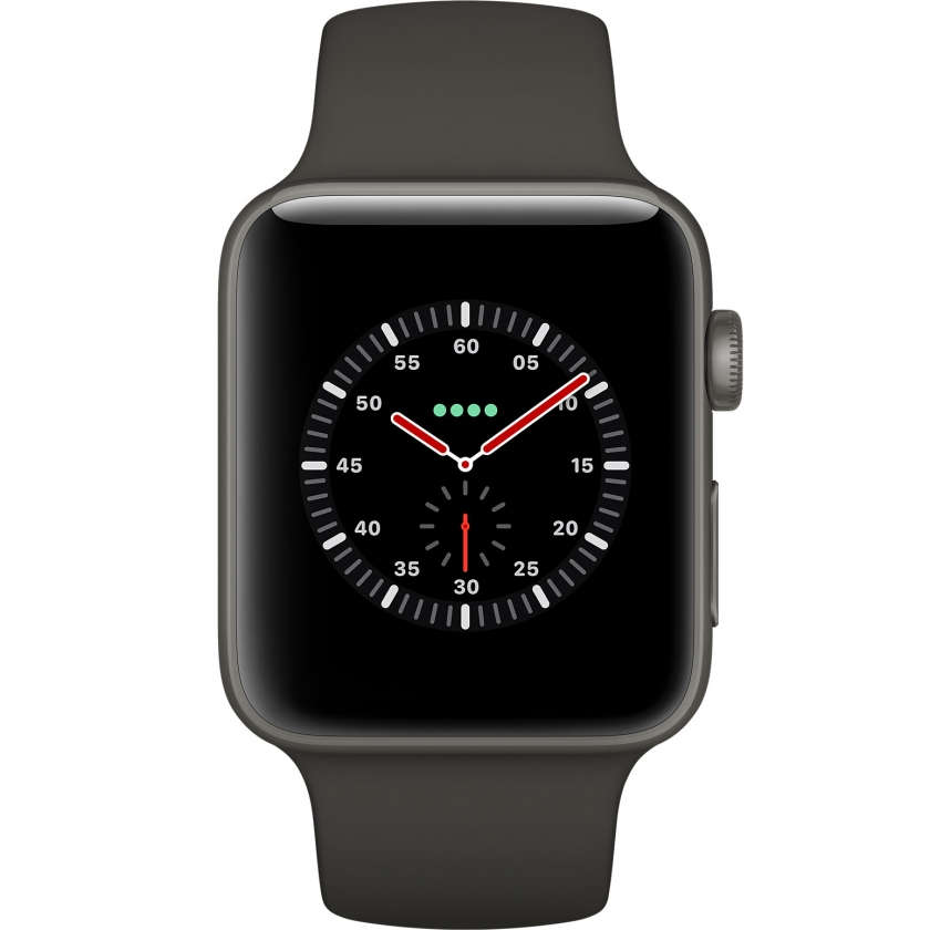 Apple Watch Edition Series 3 GPS + Cellular 42mm Gray Ceramic Case with Gray/Black Sport Band