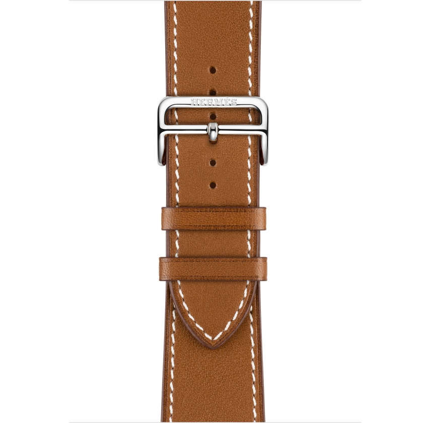 Apple Watch Hermès Series 3 GPS + Cellular 42mm Stainless Steel Case with Fauve Barenia Leather Single Tour Deployment Buckle