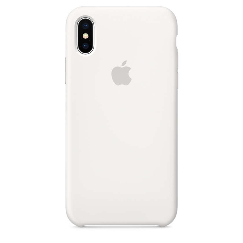 iPhone X Silicone Case - White