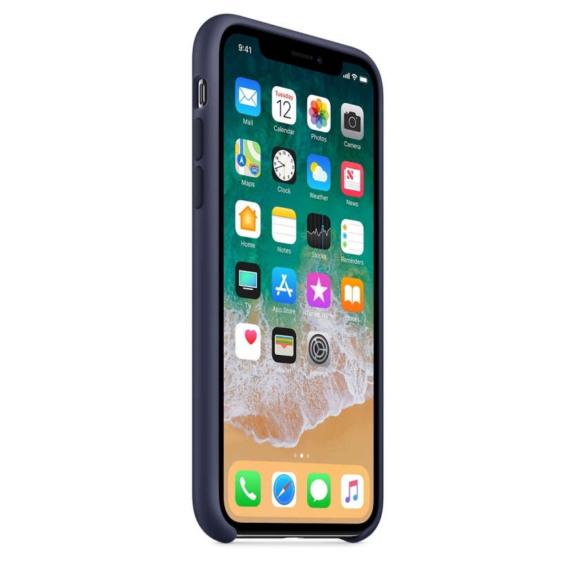 iPhone X Silicone Case - Midnight Blue