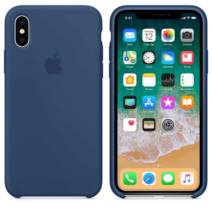 iPhone X Silicone Case Blue - Blue Cobalt