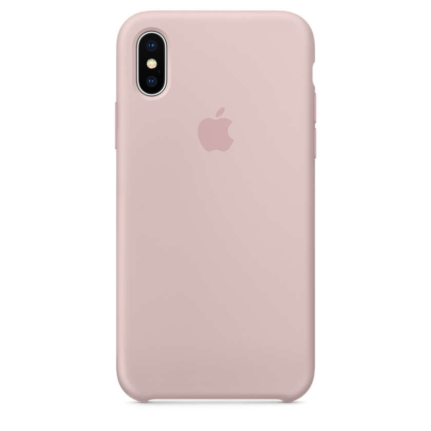 iPhone X Silicone Case - Pink Sand
