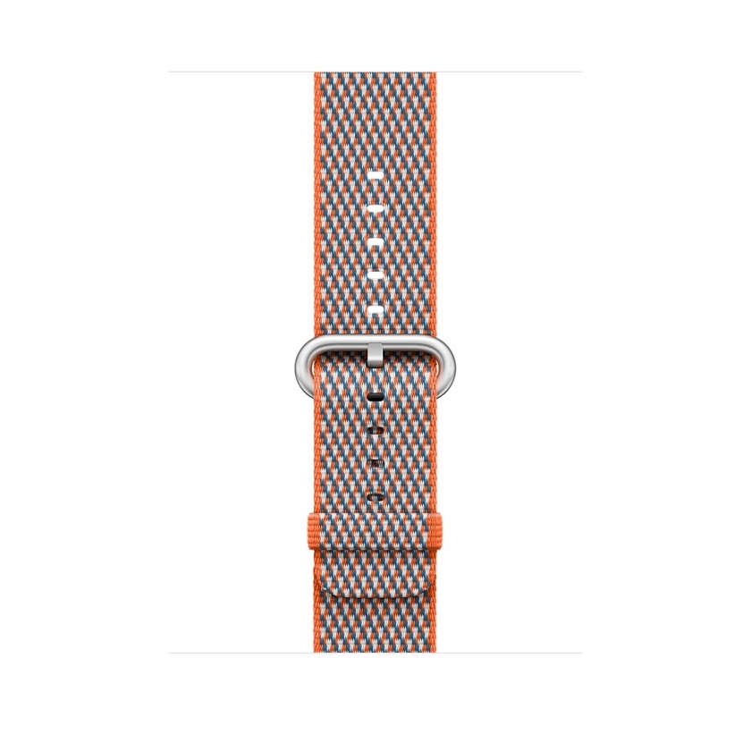 Woven Nylon - Spicy Orange Check