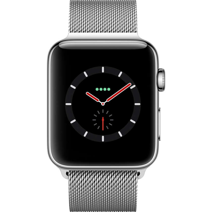 Apple Watch Series 3 GPS + Cellular 42mm Stainless Steel Case with Milanese Loop