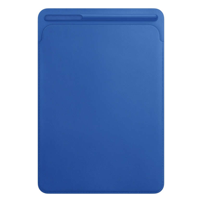 Leather Sleeve for 10.5‑inch iPad Pro/Air - Electric Blue