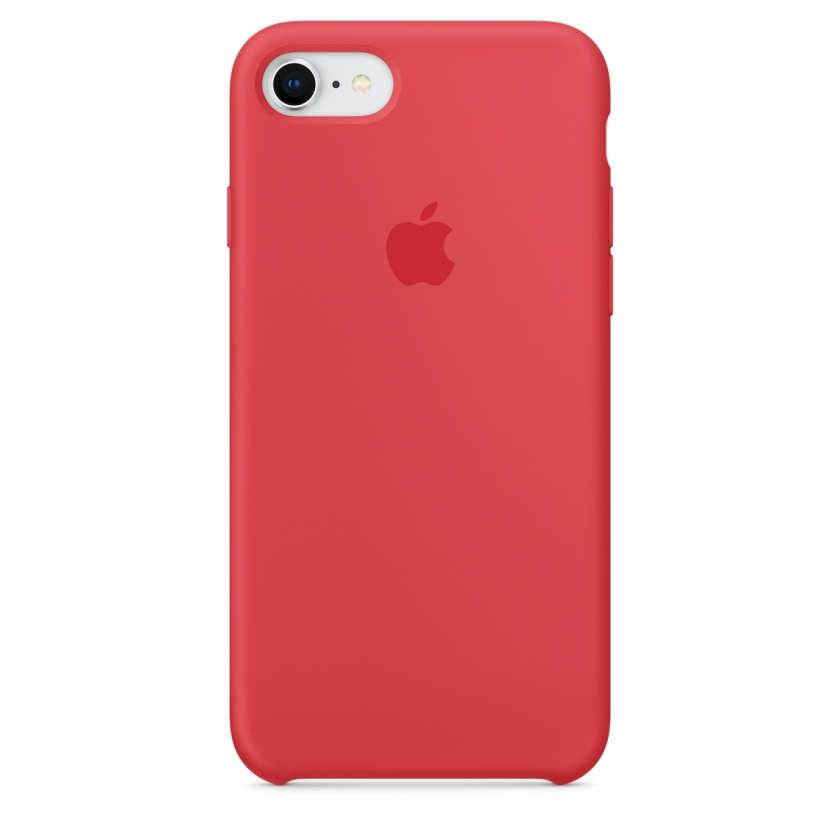 iPhone 8 / 7 Silicone Case - Red Raspberry