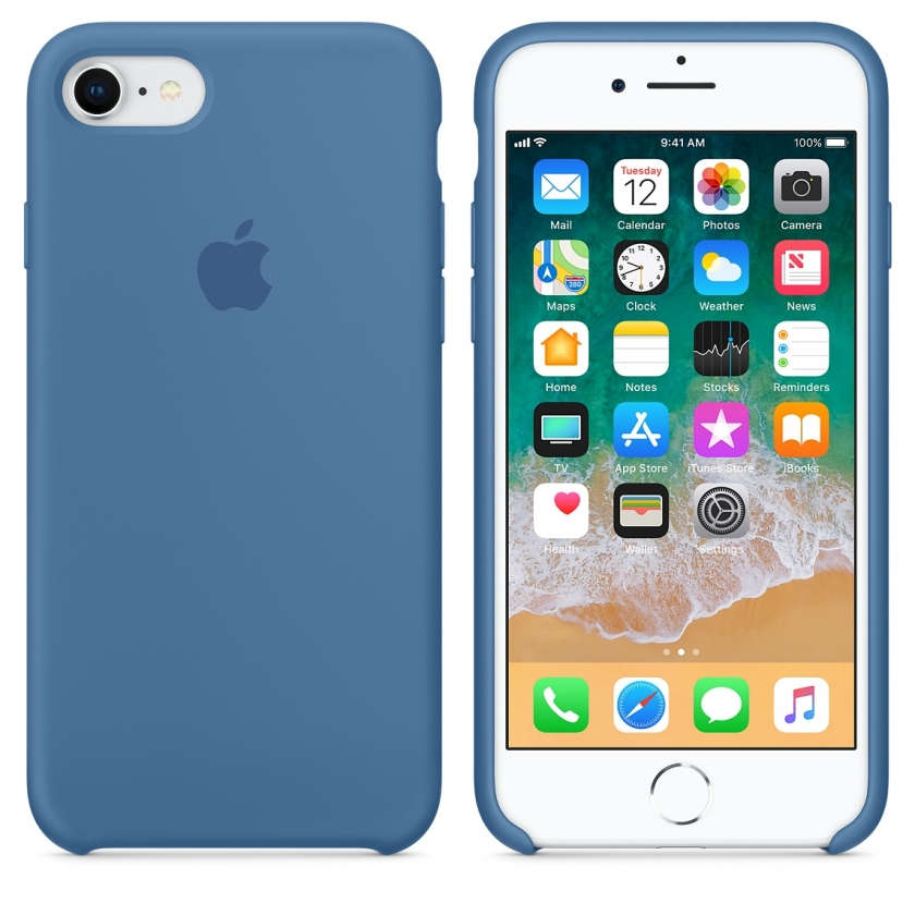 iPhone 8 / 7 Silicone Case - Denim Blue