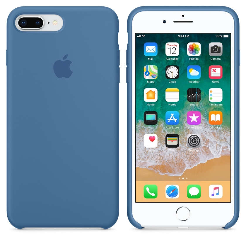 iPhone 8 Plus / 7 Plus Silicone Case - Denim Blue