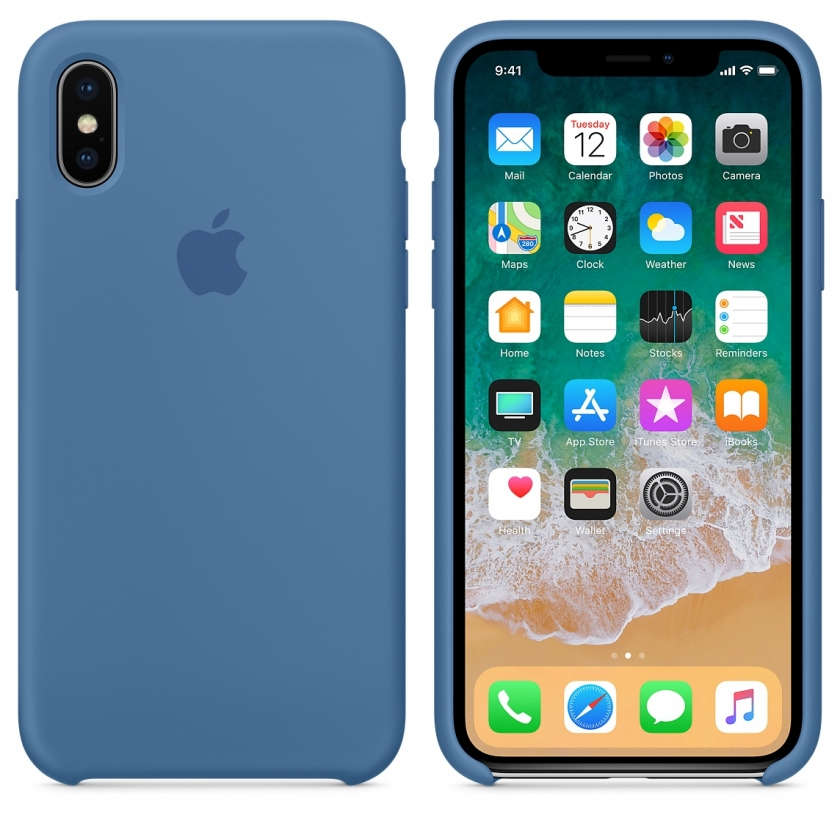 iPhone X Silicone Case - Denim Blue
