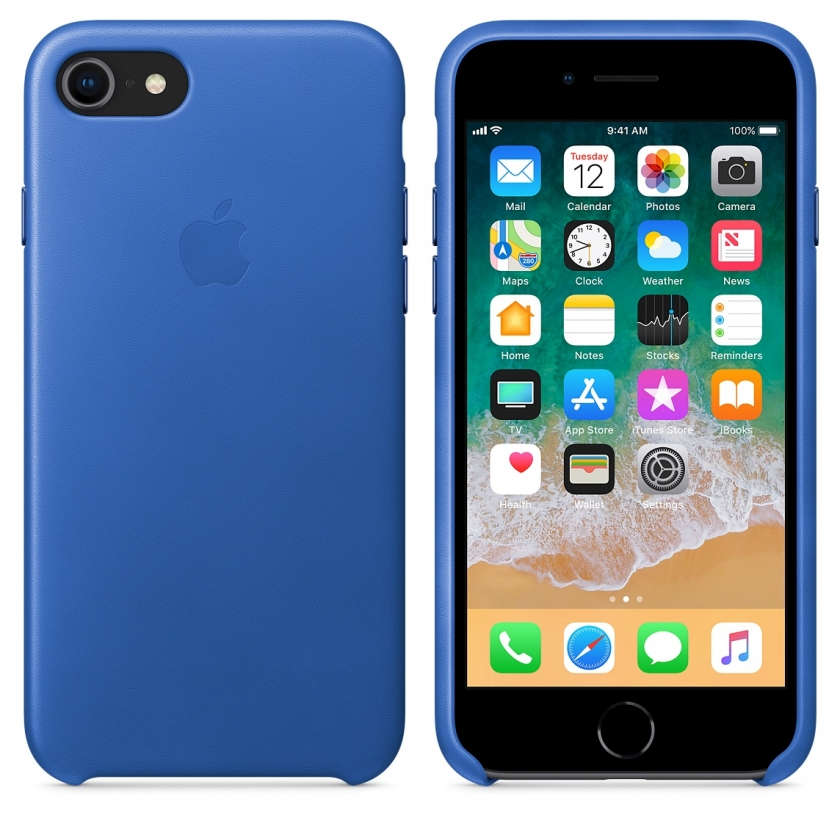 iPhone 8 / 7 Leather Case - Electric Blue