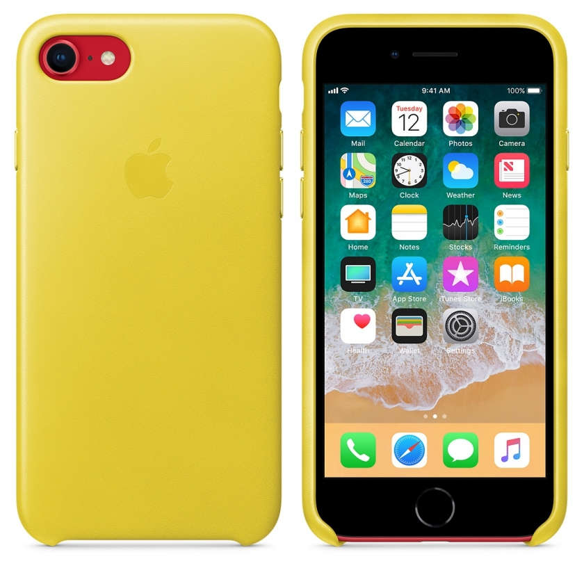 iPhone 8 / 7 Leather Case - Spring Yellow