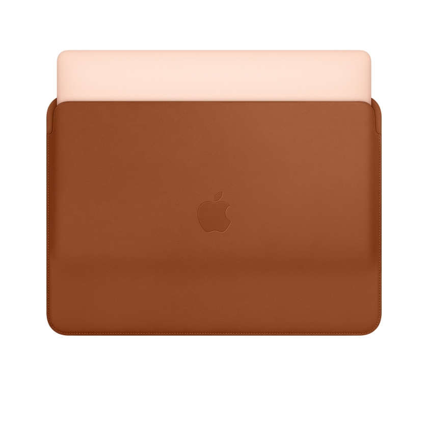 Leather Sleeve for 13‑inch MacBook and MacBook Pro - Saddle Brown