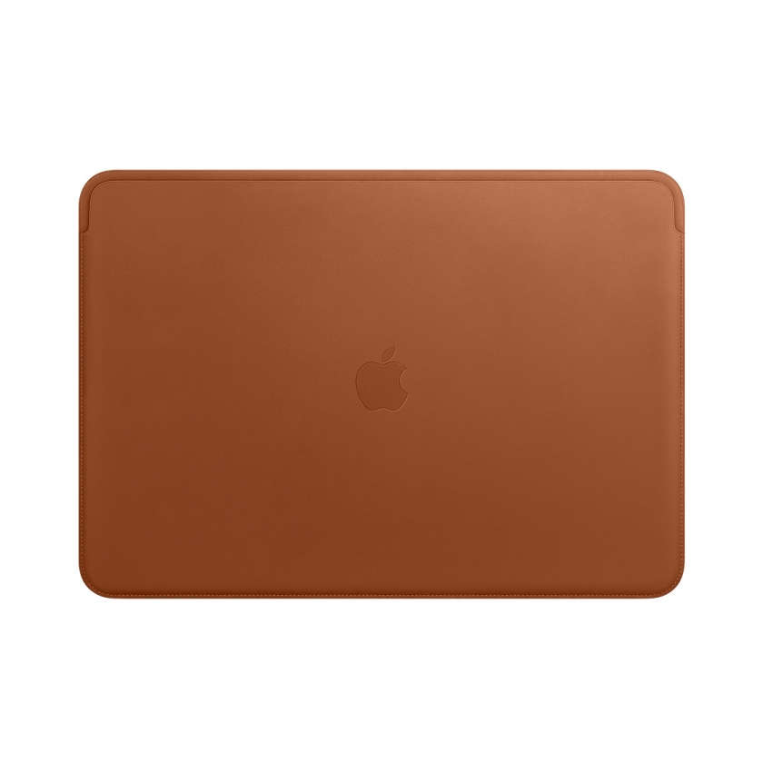 Leather Sleeve for 15‑inch MacBook Pro - Saddle Brown