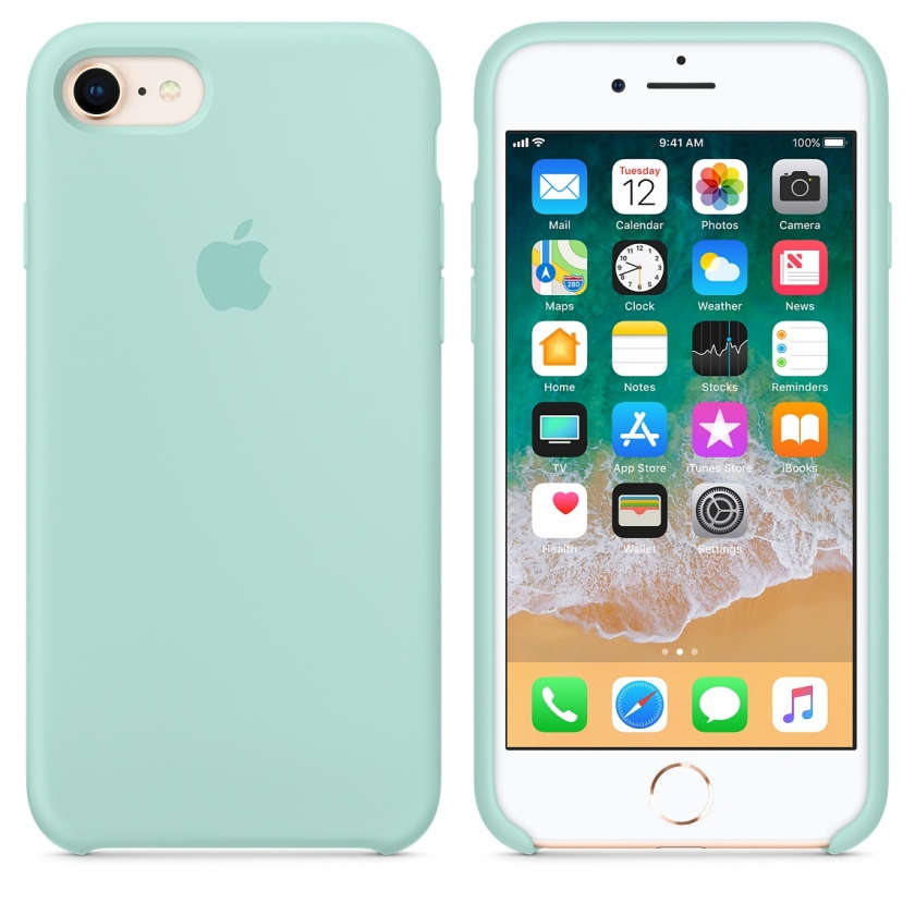 iPhone 8 / 7 Silicone Case - Marine Green