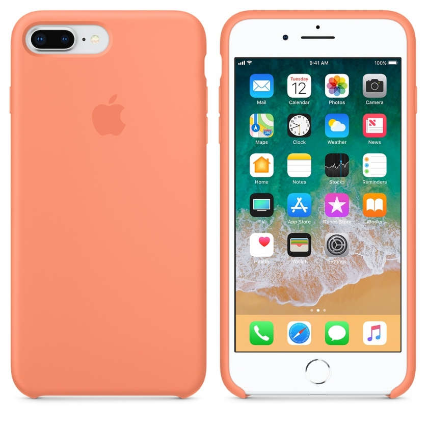 iPhone 8 Plus / 7 Plus Silicone Case - Peach