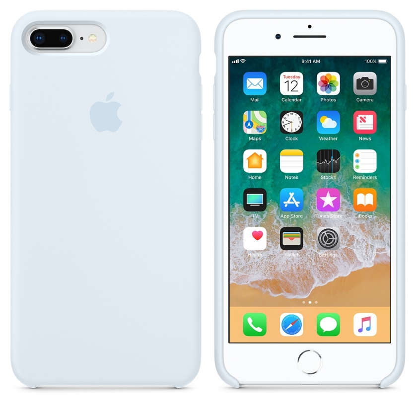 iPhone 8 Plus / 7 Plus Silicone Case - Sky Blue