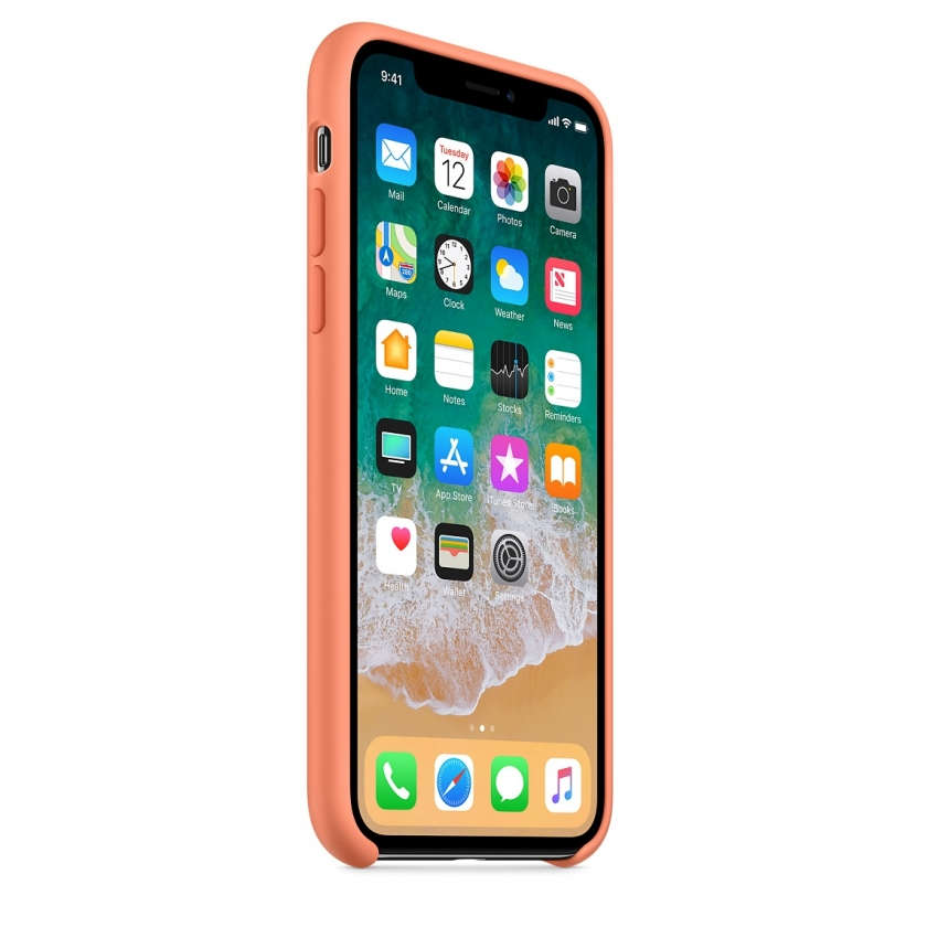 iPhone X Silicone Case - Peach
