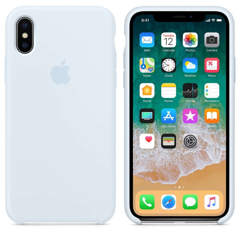 iPhone X Silicone Case - Sky Blue