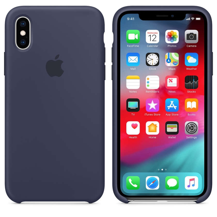 iPhone XS Silicone Case - Midnight Blue