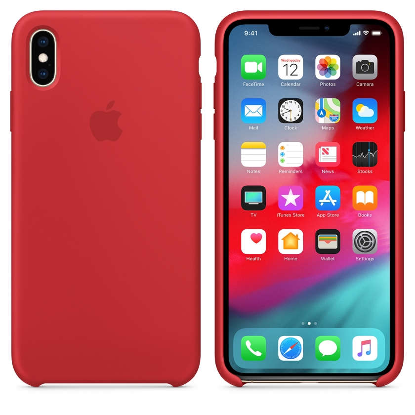 iPhone XS Max Silicone Case - (PRODUCT)RED