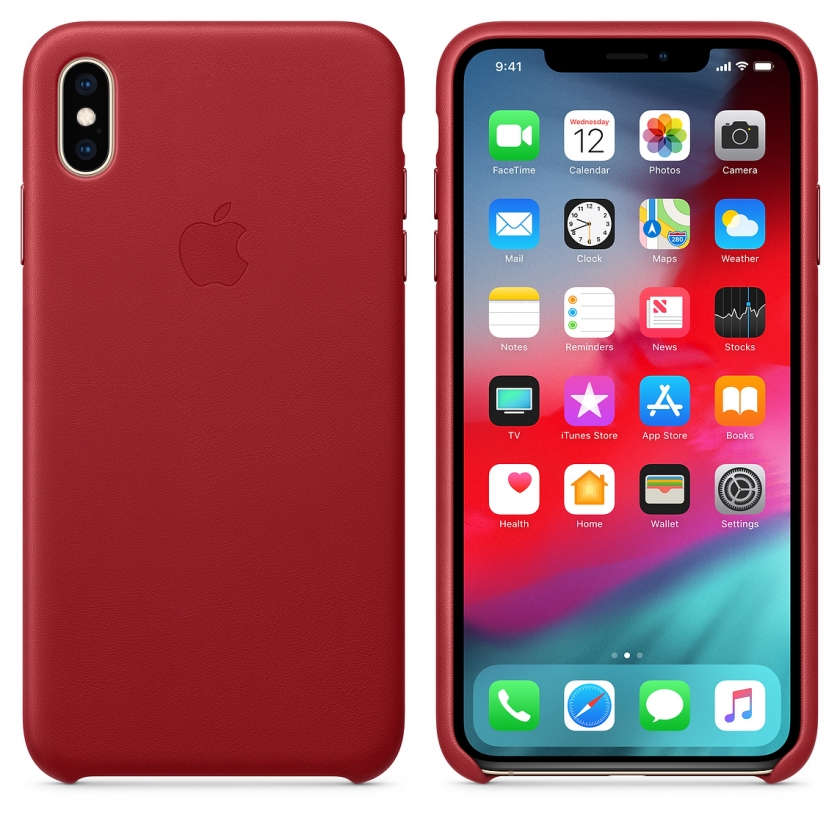 iPhone XS Max Leather Case - (PRODUCT)RED