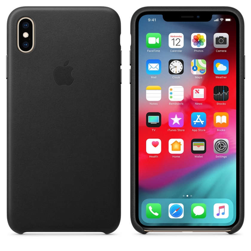 iPhone XS Max Leather Case - Black