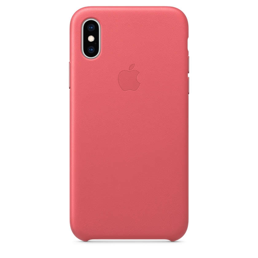 iPhone XS Leather Case - Peony Pink