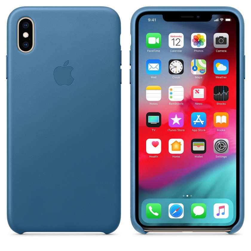 iPhone XS Max Leather Case - Cape Cod Blue