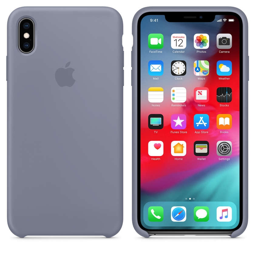 iPhone XS Max Silicone Case - Lavender Gray