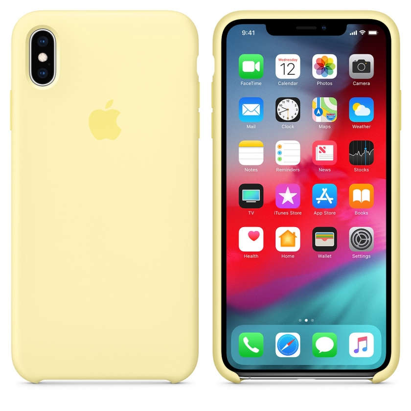 iPhone XS Max Silicone Case - Mellow Yellow