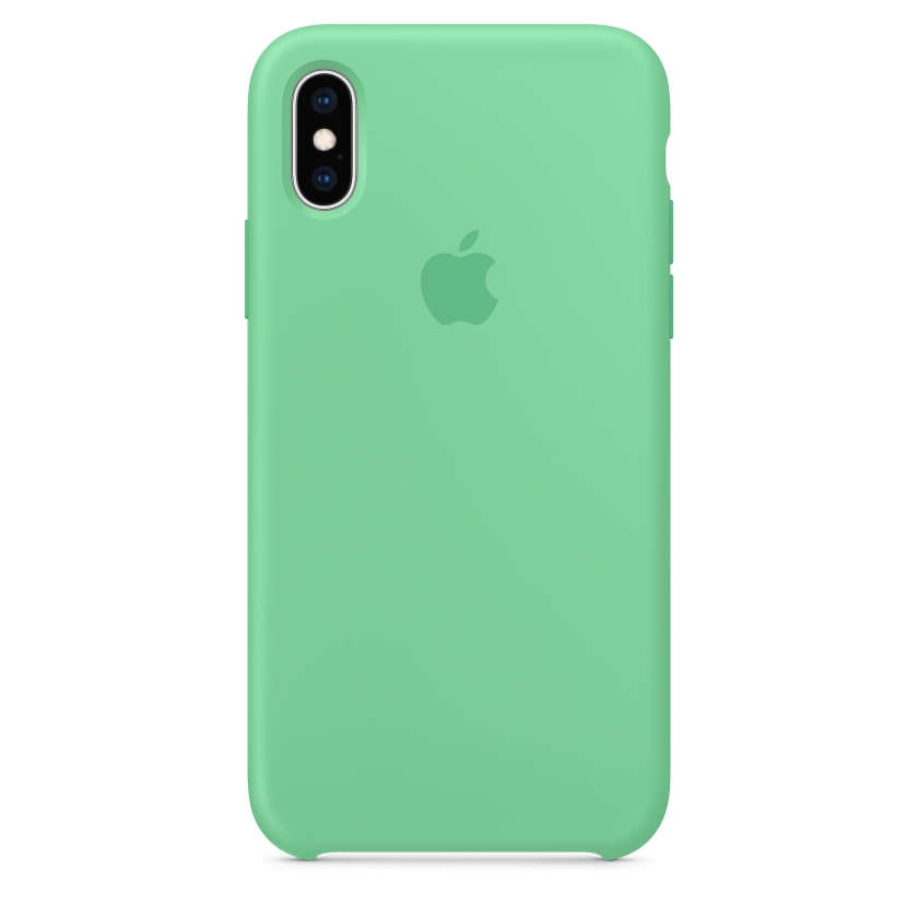 iPhone XS Silicone Case - Spearmint