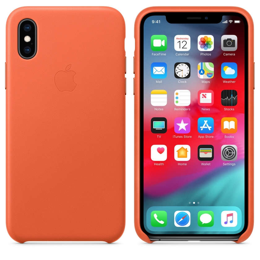 iPhone XS Leather Case - Sunset
