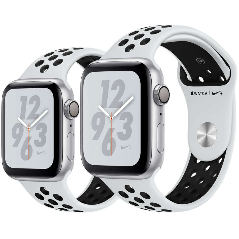 Apple Watch Nike+ Series 4 GPS 40mm Silver Aluminum Case with Pure Platinum/Black Nike Sport Band