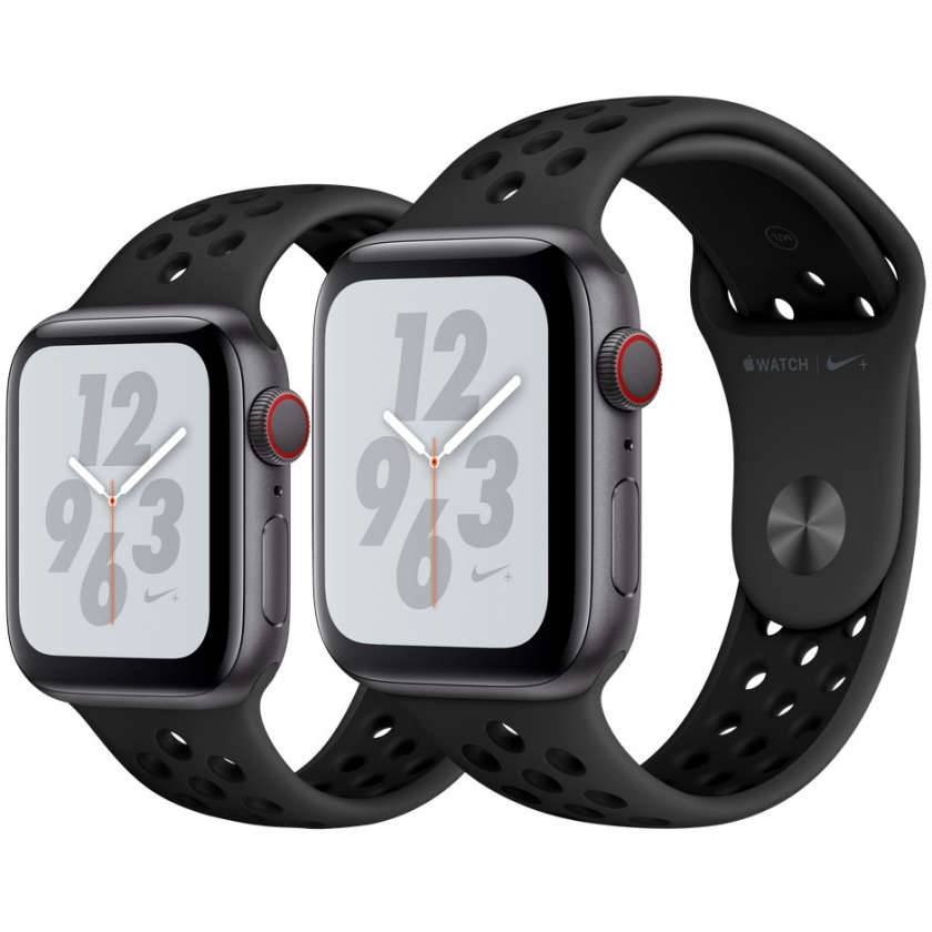 Apple Watch Nike+ Series 4 GPS + Cellular 40mm Space Gray Aluminum Case with Anthracite/Black Nike Sport Band