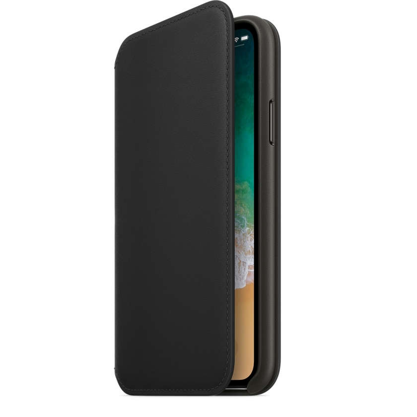 iPhone X Leather Folio - Black