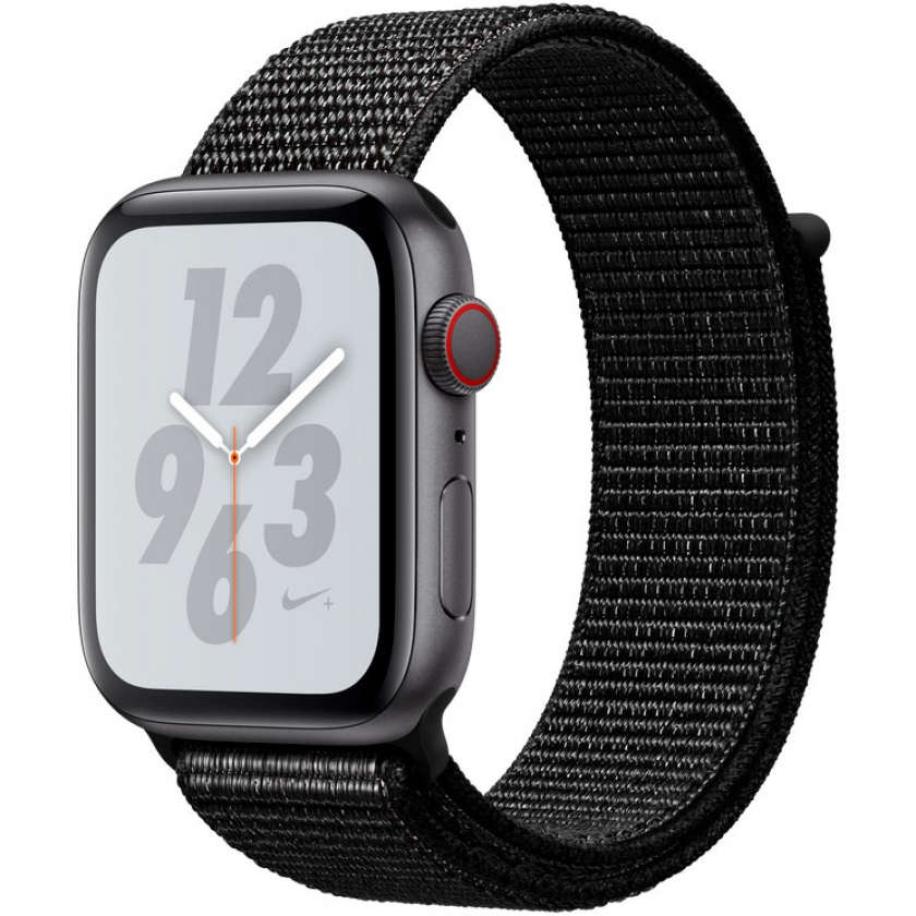 Apple Watch Nike+ Series 4 GPS + Cellular 44mm Space Gray Aluminum Case with Black Nike Sport Loop