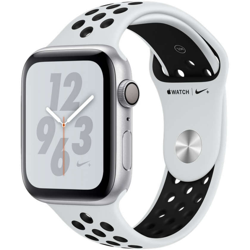 Apple Watch Nike+ Series 4 GPS 44mm Silver Aluminum Case with Pure Platinum/Black Nike Sport Band