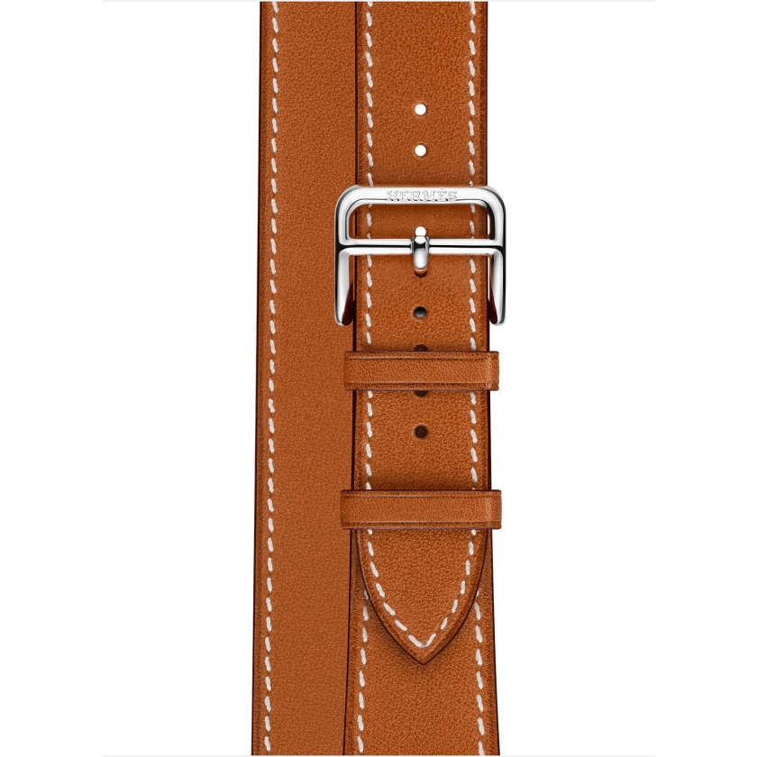 Apple Watch Hermès Series 4 GPS + Cellular 40mm Stainless Steel Case with Fauve Barenia Leather Double Tour